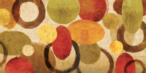 ColorOvals - 80in X 40in,25Big104_8040,Multi-Color,200X100 Size,Abstract Art Canvas Painting