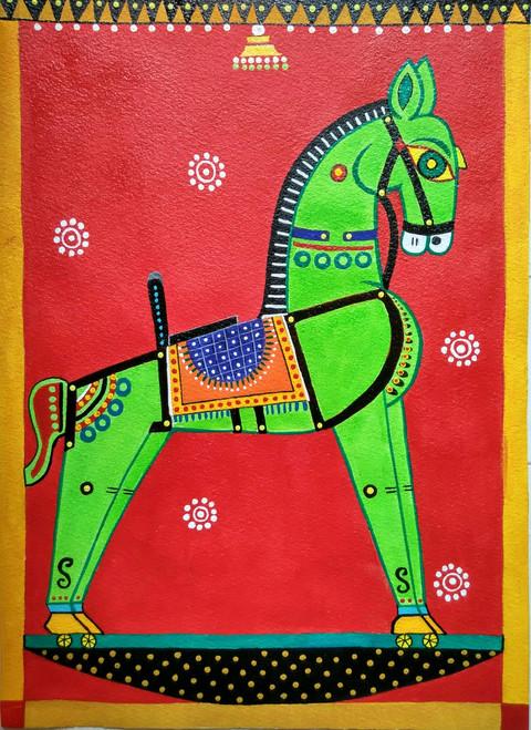,Toy Horse,ART_1243_18292,Artist : Ujwala Chavan,Acrylic