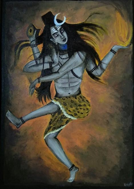 Shiva Natraja,Tandava Nritya,ART_1329_13534,Artist : Akshata Indore,Acrylic