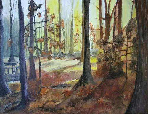 Nature,forest,woods,Blissful Woods,ART_1329_12016,Artist : Akshata Indore,Acrylic