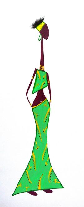 waiting, lady, tribal, village, alone,Lady,ART_2365_18480,Artist : Nipuna Ghosh,Acrylic