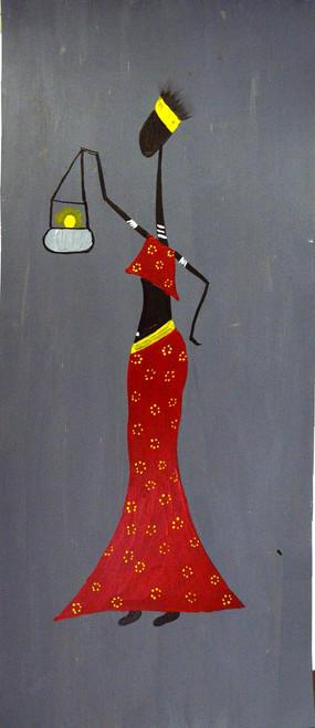 lady, evening, light, waiting, girl, woman,Lady,ART_2365_18478,Artist : Nipuna Ghosh,Acrylic