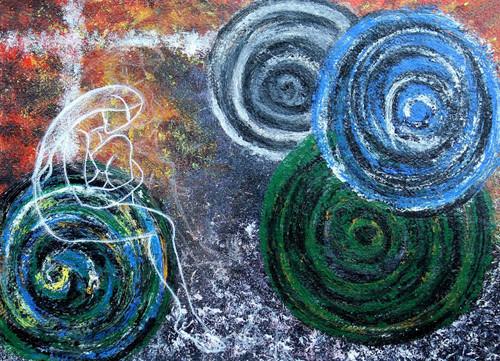 feminine, colors of life, abstract art,Colors of life,ART_1489_12115,Artist : Radhika Ulluru,Acrylic