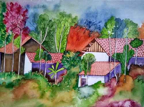 ,landscape 1,ART_1243_18524,Artist : Ujwala Chavan,Water Colors