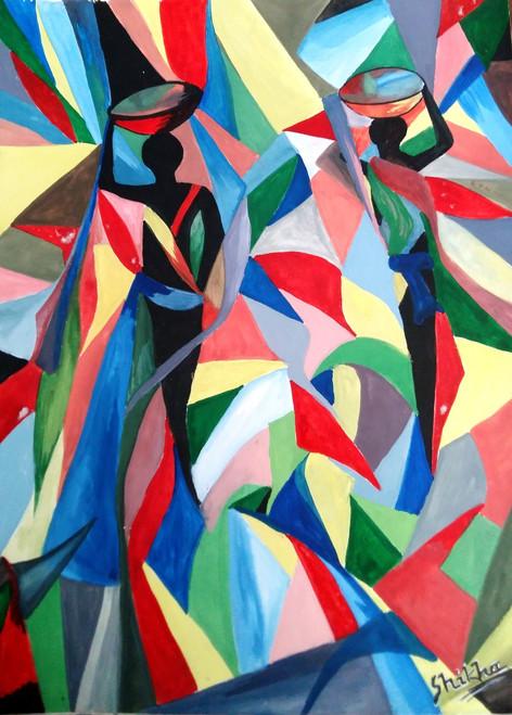 Abstract,Daily Wagers,ART_2483_18604,Artist : Shikha Agarwal,Poster Colors