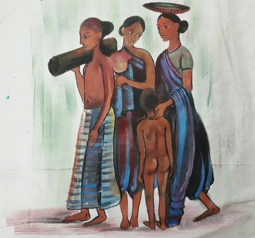 Livelihood,Livelihood,ART_2467_18554,Artist : Varinder Kaur,Fabric Paints
