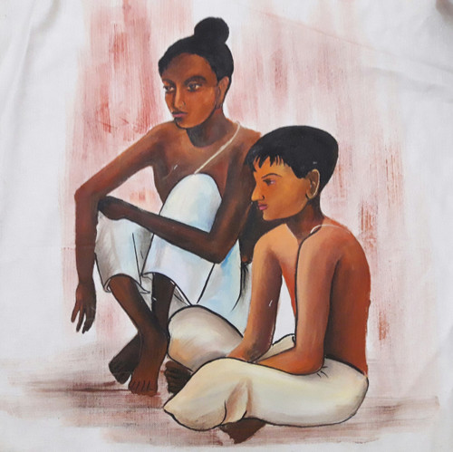 Wait,Wait,ART_2467_18553,Artist : Varinder Kaur,Fabric Paints