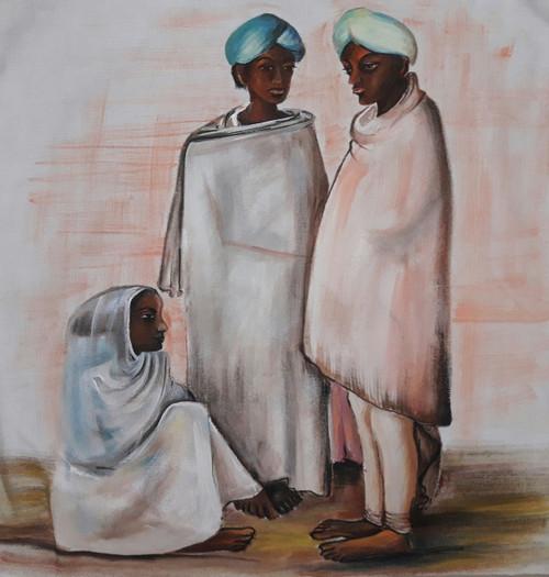 Men and woman,Men and woman,ART_2467_18552,Artist : Varinder Kaur,Fabric Paints