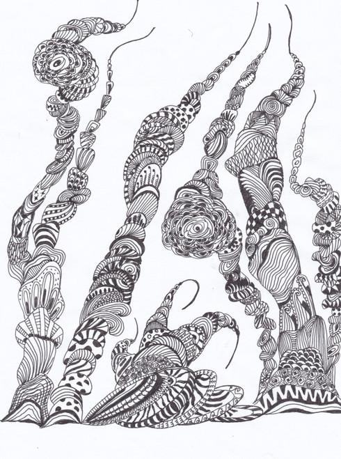 ,Abstract Doddle Art,ART_2475_18649,Artist : Sridevi Karthikeyan,Ink