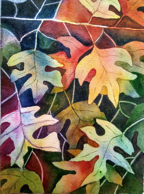 ,Autumn Leaves,ART_1243_18851,Artist : Ujwala Chavan,Water Colors