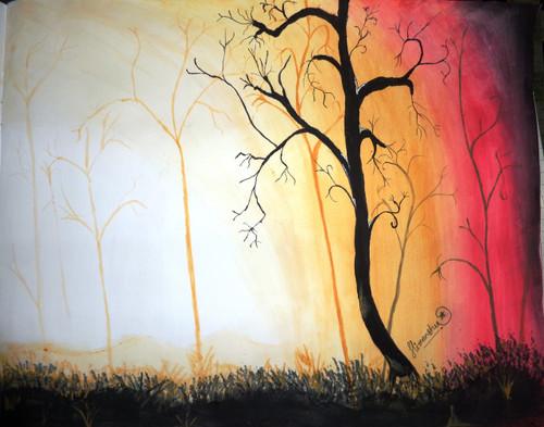 Trees, Forest ,Forest,ART_2540_18844,Artist : HIMANSHU DESHMUKH,Water Colors