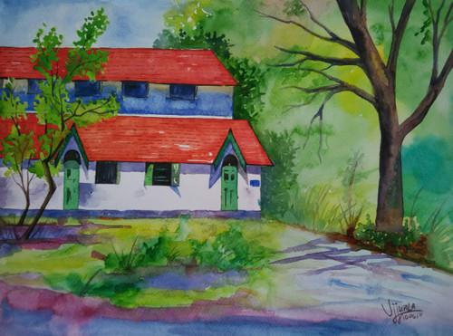 ,Pune University building,ART_1243_18952,Artist : Ujwala Chavan,Water Colors