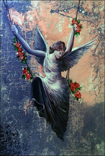 angel , female, ,WINGS ON A CATAPULT,ART_2580_18957,Artist : Ankita Goenka,Mixed Media