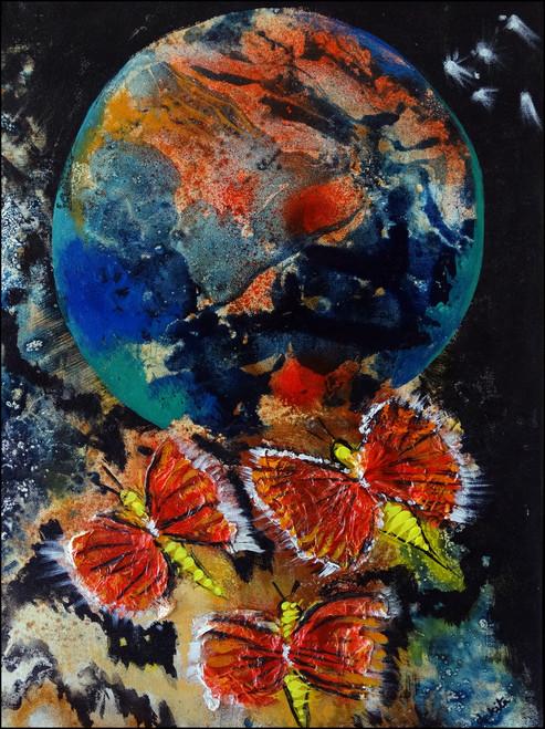 abstract,flying beyond,ART_2580_18996,Artist : Ankita Goenka,Mixed Media