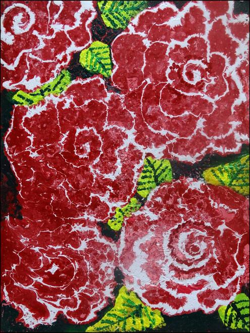 roses,red roses,ART_2580_18995,Artist : Ankita Goenka,Mixed Media