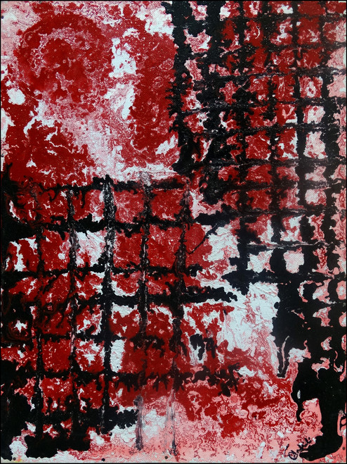 abstract,red intigration,ART_2580_18986,Artist : Ankita Goenka,Mixed Media