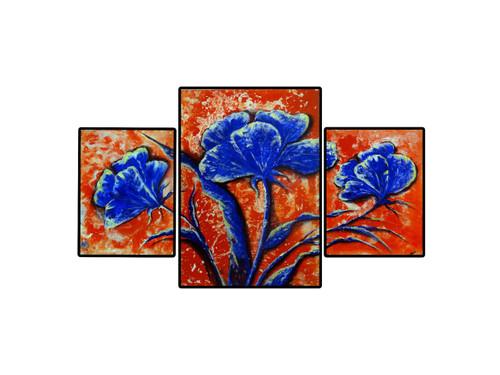 part painting, flower,purple petals,ART_2580_18985,Artist : Ankita Goenka,Mixed Media