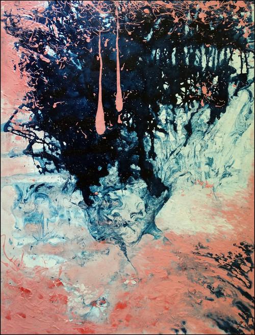 abstract,mountains, ,inverted mountains,ART_2580_18972,Artist : Ankita Goenka,Mixed Media