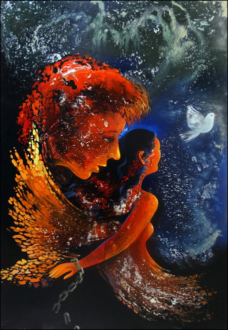 feminine, motivational, freedom from bondage, ,freedom from anarchy of destiny,ART_2580_18960,Artist : Ankita Goenka,Mixed Media