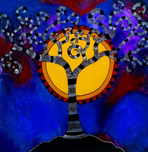 tree,folk,tribal,whimsical,Tree of life,ART_571_19078,Artist : Madhavi Sandur,Acrylic