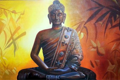 buddha,living space,buddha,ART_2562_19106,Artist : Jay Bhagatwala,Acrylic