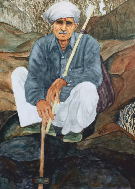 ,Chittarangi-Jiilledar,ART_2047_19084,Artist : Prashant Singh,Water Colors