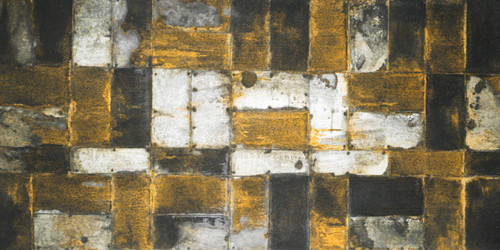 Peeps3 - 48in X 24in,31Gold92_4824,Black, Dark Shades,120X60 Size,Gold and Silver Art Canvas Painting