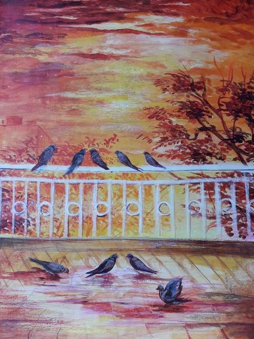 shiny, morning,A shiny morning,ART_2467_18537,Artist : Varinder Kaur,Acrylic
