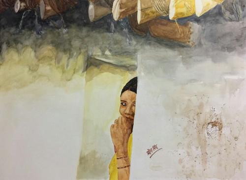 ,Chittarangi-Wahi Intazar,ART_2047_19601,Artist : Prashant Singh,Water Colors