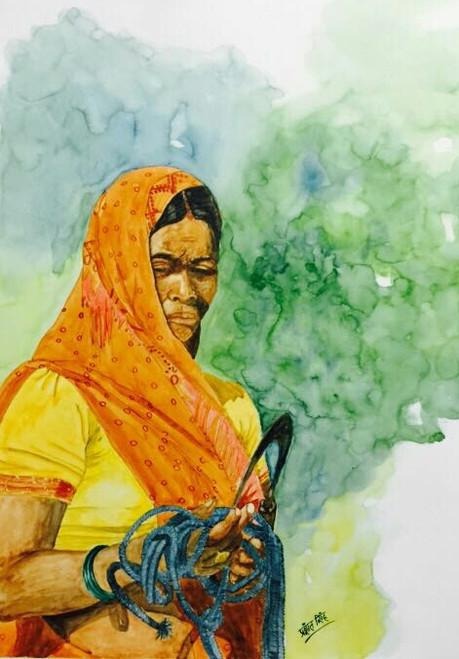 ,Chittarangi-Mukti,ART_2047_19598,Artist : Prashant Singh,Water Colors