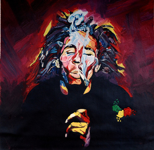 Bob Marley, best, legend, portrait, smoke, weed, colourful, inspirational, original artwork, best , classy, royal, interior, cool, youth, joy, freedom, blue, red, white, green, yellow, chaos, awesome, top selling, peace, famous, recommended, motivational ,missmessyartist  Bob Marley 01,ART_1538_19806,Artist : NEHA PATIDAR,Mixed Media