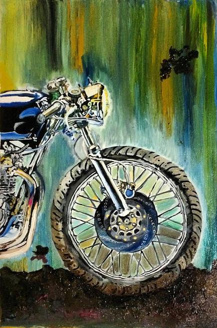 bike, motorcycle, bullet, ride, roadtrip, road, badass, bachelor, men, boy, masculine, travel, colourful, modern, contemporary, classy, beast, best, top selling, best art, machine, hero, harley davidson, royal enfield, triump, biker, rider, traveller,missmessyartist Motorcycle 02,ART_1538_19798,Artist : NEHA PATIDAR,Oil