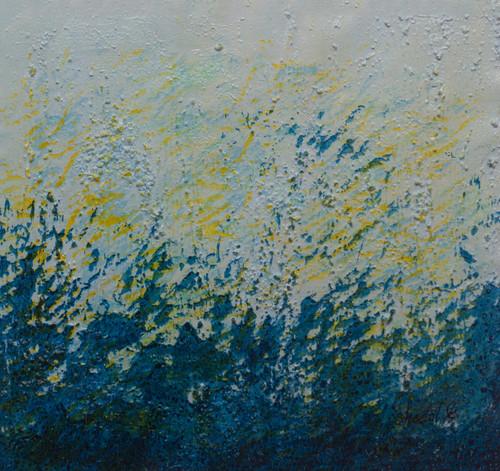 Blue colour abstract.,Jal painting.,ART_1435_19834,Artist : Sheetal Kshatriya,Mixed Media