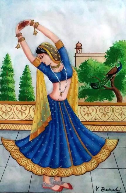 Miniature art on sheet,Miniature art,ART_2360_19767,Artist : Vinod Bakshi,Water Colors
