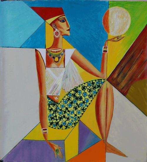 ,Egyptian Queen,ART_2768_19722,Artist : Shalini Singh,Acrylic