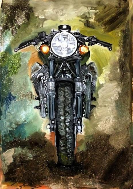 bike, motorcycle, modern, badass, colourfyl, bullet, fashion, contemporary, abstract, hero, man, guy, manly, masculine, machine, caferacer, race, ride, road, biker, roadtrip, splash, chaos, classy, royal, demand, famous, best, most sold, top selling, love,missmessyartist Motorcycle 01,ART_1538_19795,Artist : NEHA PATIDAR,Oil