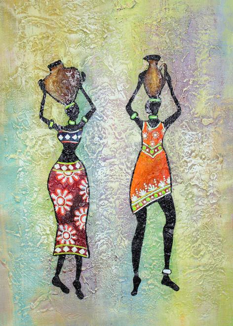 Figurative ,African Art 09,ART_1522_19912,Artist : Ram Achal,Acrylic