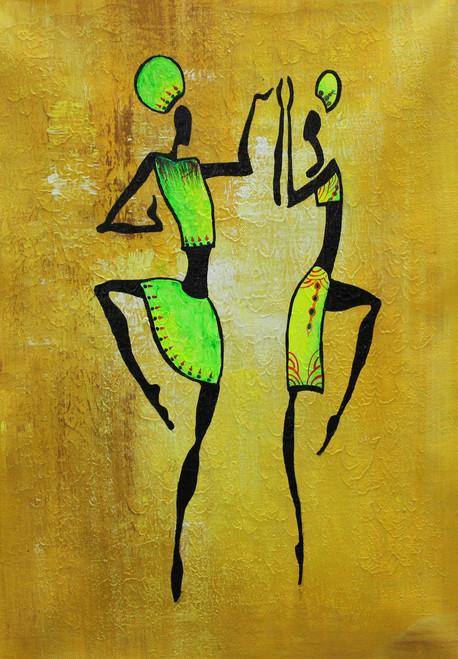 Figurative ,African Art 04,ART_1522_19907,Artist : Ram Achal,Acrylic