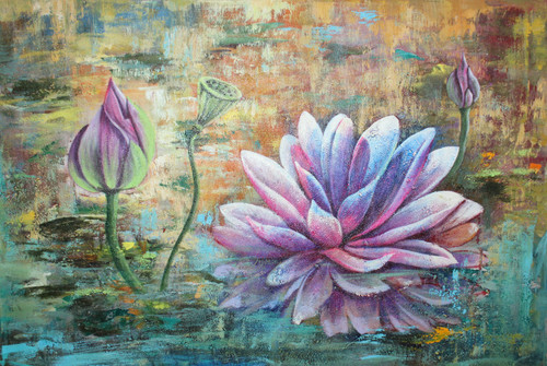 Abstract ,abstract lotus ,ART_1522_19902,Artist : Ram Achal,Acrylic
