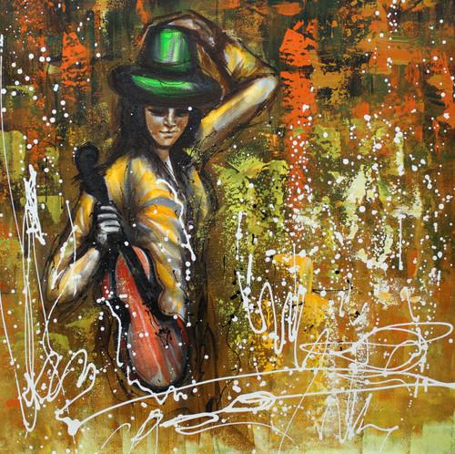 Music ,Musical Art 02,ART_1522_19961,Artist : Ram Achal,Acrylic
