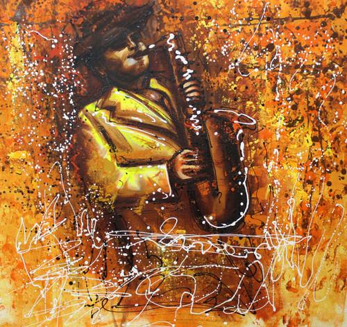 Music ,Musical Art 01,ART_1522_19959,Artist : Ram Achal,Acrylic