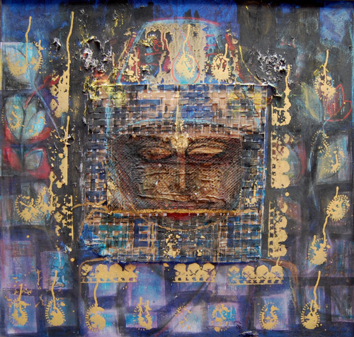 Abstract Krishna God,KRISHNA,ART_2646_19941,Artist : PEGASUS ART GALLERY,Mixed Media