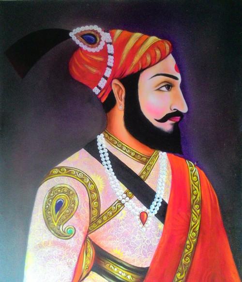 chatrapati sambhaji maharaj,chatrapati sambhaji maharaj,ART_2821_19970,Artist : Nilesh Gangurde,Oil