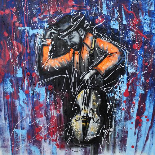 Music ,Musical Art 04,ART_1522_19972,Artist : Ram Achal,Acrylic
