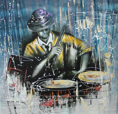 Music ,Musical Art 10,ART_1522_20010,Artist : Ram Achal,Acrylic
