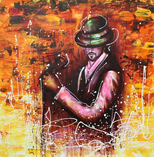 Music ,Musical Art 09,ART_1522_20009,Artist : Ram Achal,Acrylic