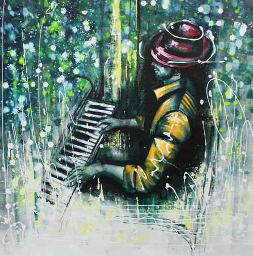 Music,Musical Art 07,ART_1522_20007,Artist : Ram Achal,Acrylic