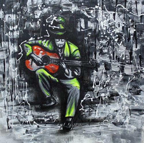 Music ,Musical Art 05,ART_1522_20005,Artist : Ram Achal,Acrylic