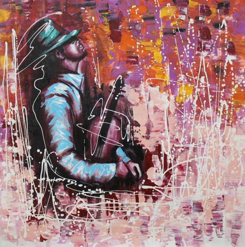 Music ,Music Art 08,ART_1522_20008,Artist : Ram Achal,Acrylic