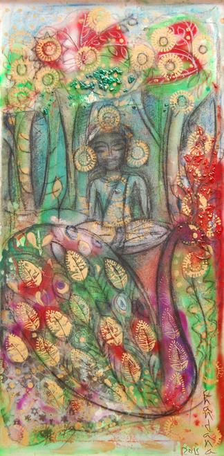 Buddha peace,BUDDHA - 1,ART_2860_20080,Artist : Chandana Khan,Mixed Media